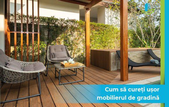 Cum sa cureti usor mobilierul de gradina